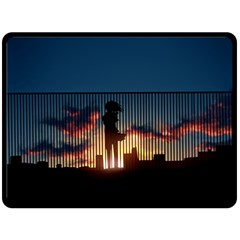 Art Sunset Anime Afternoon Double Sided Fleece Blanket (large)  by BangZart