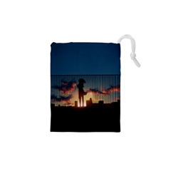 Art Sunset Anime Afternoon Drawstring Pouches (xs)  by BangZart