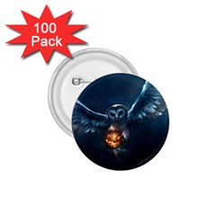 Owl And Fire Ball 1 75  Buttons (100 Pack)  by BangZart