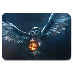 Owl And Fire Ball Large Doormat