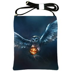 Owl And Fire Ball Shoulder Sling Bags by BangZart