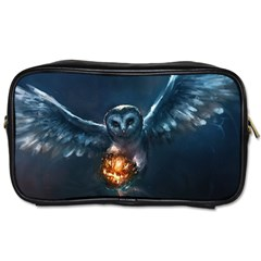 Owl And Fire Ball Toiletries Bags 2 Side