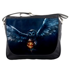 Owl And Fire Ball Messenger Bags