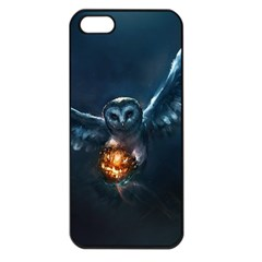 Owl And Fire Ball Apple Iphone 5 Seamless Case (black)