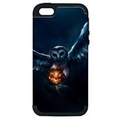 Owl And Fire Ball Apple Iphone 5 Hardshell Case (pc+silicone)