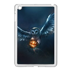 Owl And Fire Ball Apple Ipad Mini Case (white) by BangZart