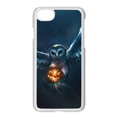 Owl And Fire Ball Apple Iphone 7 Seamless Case (white) by BangZart