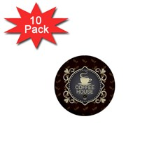Coffee House 1  Mini Buttons (10 Pack)  by BangZart