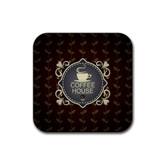 Coffee House Rubber Coaster (square)