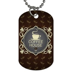 Coffee House Dog Tag (two Sides) by BangZart