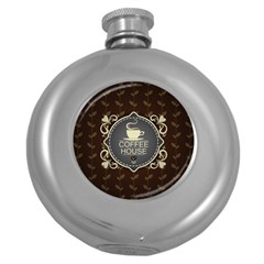 Coffee House Round Hip Flask (5 Oz) by BangZart