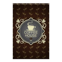 Coffee House Shower Curtain 48  X 72  (small)  by BangZart
