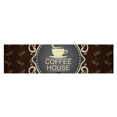 Coffee House Satin Scarf (oblong)