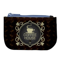 Coffee House Large Coin Purse