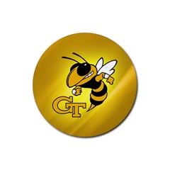 Georgia Institute Of Technology Ga Tech Rubber Round Coaster (4 Pack)