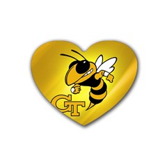 Georgia Institute Of Technology Ga Tech Heart Coaster (4 Pack)  by BangZart