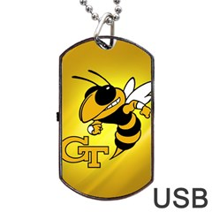 Georgia Institute Of Technology Ga Tech Dog Tag Usb Flash (two Sides) by BangZart