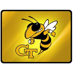Georgia Institute Of Technology Ga Tech Double Sided Fleece Blanket (large)
