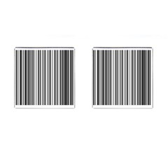 Barcode Pattern Cufflinks (square)