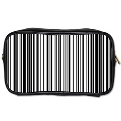 Barcode Pattern Toiletries Bags 2 Side