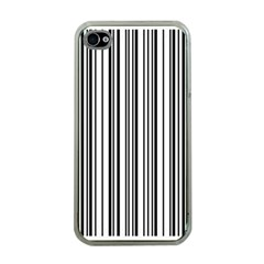 Barcode Pattern Apple Iphone 4 Case (clear)
