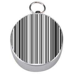 Barcode Pattern Silver Compasses