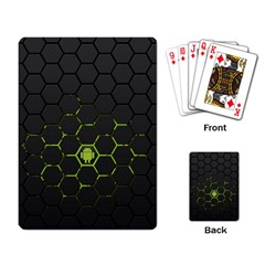 Green Android Honeycomb Gree Playing Card