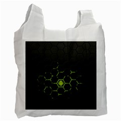 Green Android Honeycomb Gree Recycle Bag (two Side)