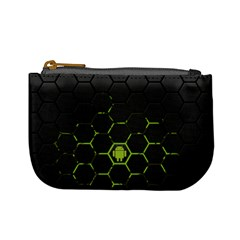 Green Android Honeycomb Gree Mini Coin Purses by BangZart