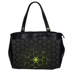 Green Android Honeycomb Gree Office Handbags (2 Sides)  by BangZart