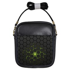 Green Android Honeycomb Gree Girls Sling Bags by BangZart