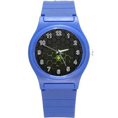 Green Android Honeycomb Gree Round Plastic Sport Watch (s) by BangZart