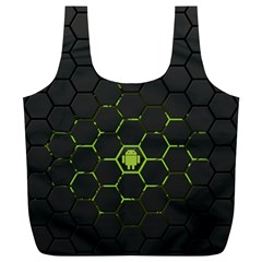 Green Android Honeycomb Gree Full Print Recycle Bags (l)