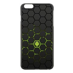 Green Android Honeycomb Gree Apple Iphone 6 Plus/6s Plus Black Enamel Case