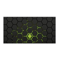 Green Android Honeycomb Gree Satin Wrap