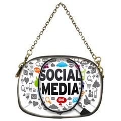 Social Media Computer Internet Typography Text Poster Chain Purses (two Sides)  by BangZart
