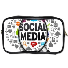 Social Media Computer Internet Typography Text Poster Toiletries Bags by BangZart