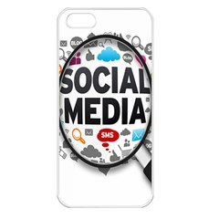 Social Media Computer Internet Typography Text Poster Apple Iphone 5 Seamless Case (white)