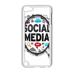 Social Media Computer Internet Typography Text Poster Apple Ipod Touch 5 Case (white) by BangZart