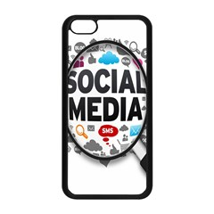 Social Media Computer Internet Typography Text Poster Apple Iphone 5c Seamless Case (black)