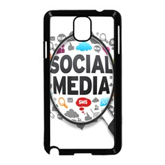 Social Media Computer Internet Typography Text Poster Samsung Galaxy Note 3 Neo Hardshell Case (black)