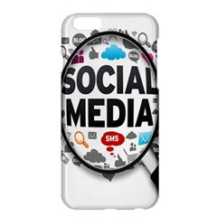 Social Media Computer Internet Typography Text Poster Apple Iphone 6 Plus/6s Plus Hardshell Case