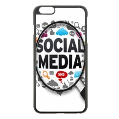 Social Media Computer Internet Typography Text Poster Apple Iphone 6 Plus/6s Plus Black Enamel Case by BangZart