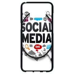 Social Media Computer Internet Typography Text Poster Samsung Galaxy S8 Black Seamless Case by BangZart