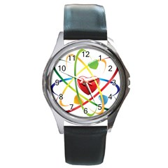 Love Round Metal Watch by BangZart