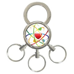 Love 3 Ring Key Chains by BangZart