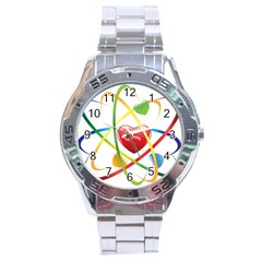 Love Stainless Steel Analogue Watch by BangZart