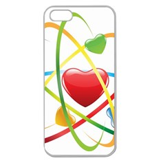 Love Apple Seamless Iphone 5 Case (clear) by BangZart