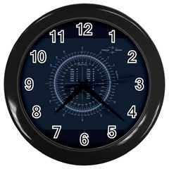 Minimalistic Knowledge Mathematics Trigonometry Wall Clocks (black) by BangZart