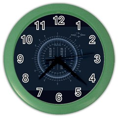 Minimalistic Knowledge Mathematics Trigonometry Color Wall Clocks